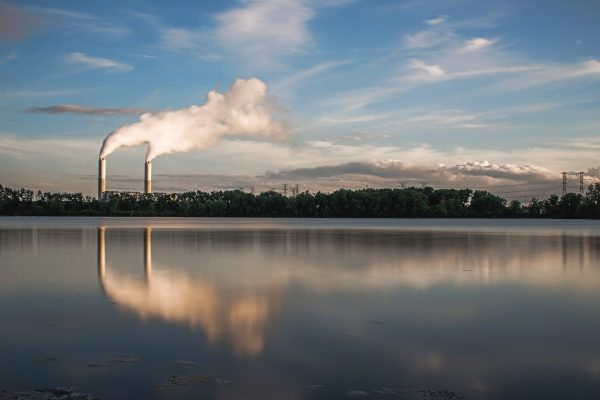 A view of the Monroe Power Plant from Michigan's Sterling State Park