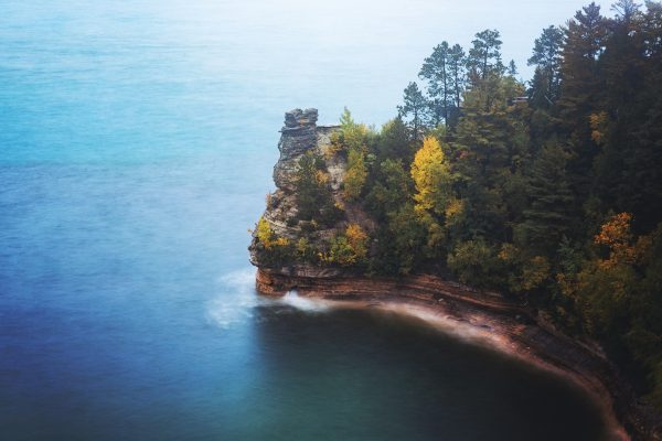 Munising Michigan's Miner's Castle in Fall - PIctured Rocks National Lakeshore