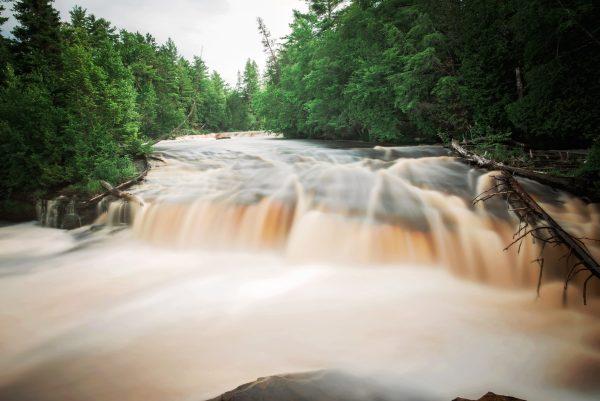 Spring in the Lower Tahquamenon Falls Michigan State Park