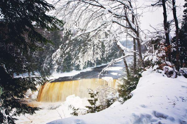 Snowy Tahquamenon Falls