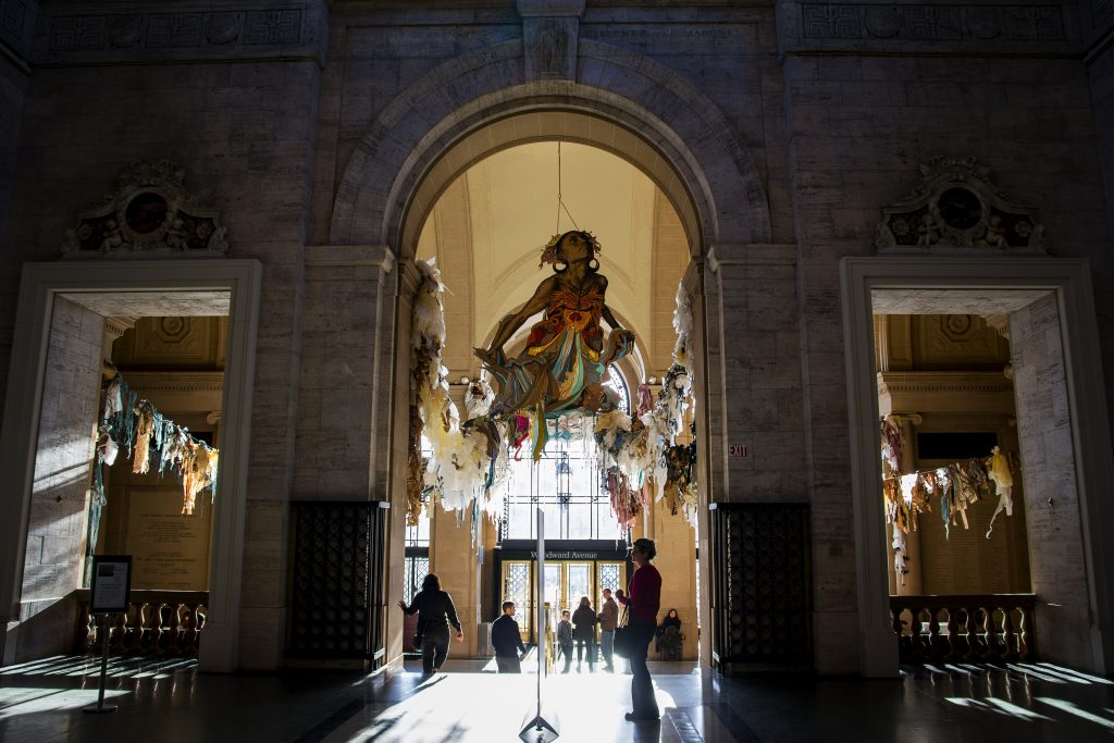 The entryway of the Detroit Institute of Arts