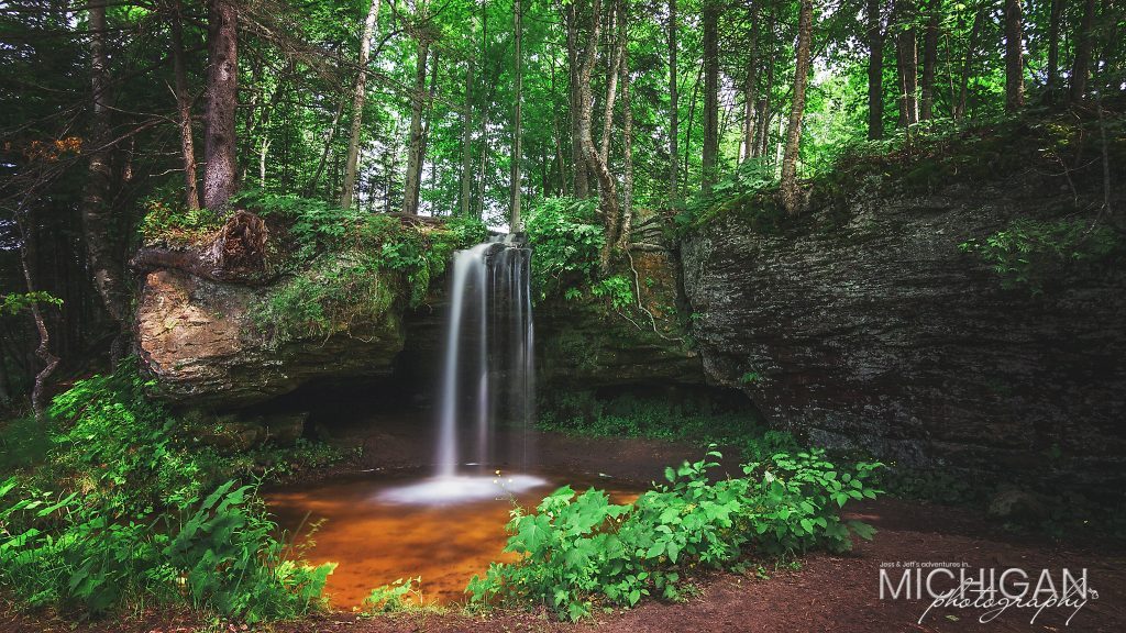 Scott Falls- A peaceful roadside scene near Munising Michigan