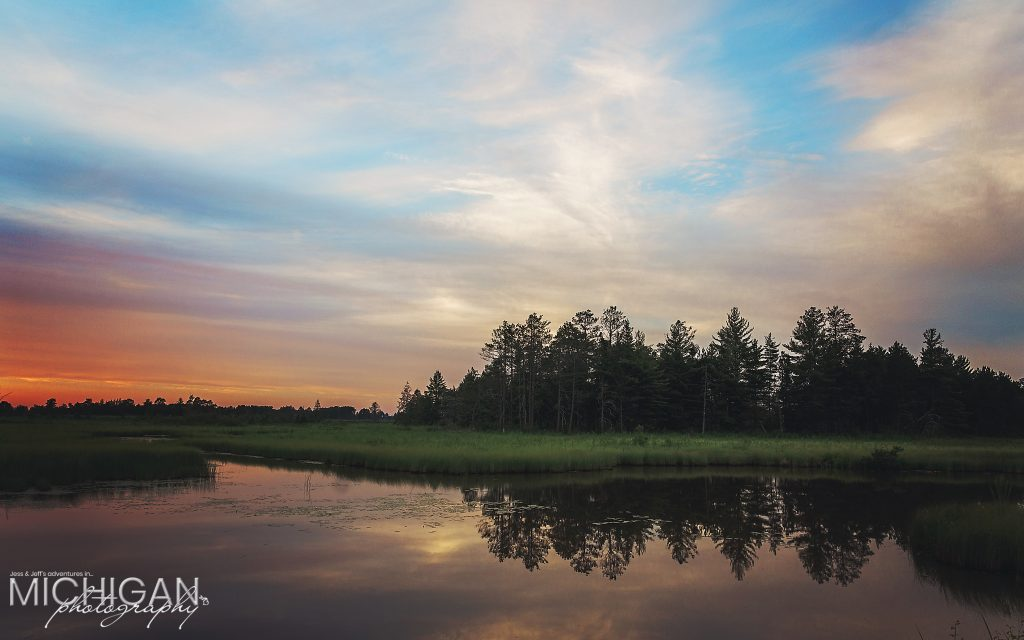 Seney National Wildlife Refuge Sunset - Reflections in Michigan's Upper Peninsula