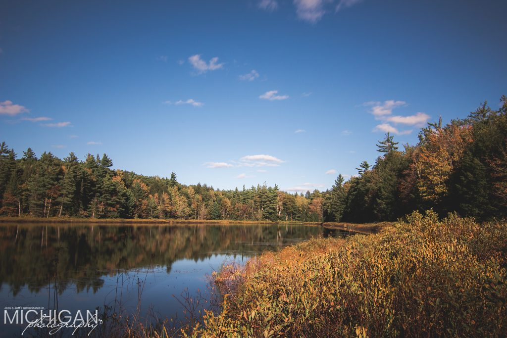 Lost Lake, found in the Porcupine Mountains, in early Autumn.