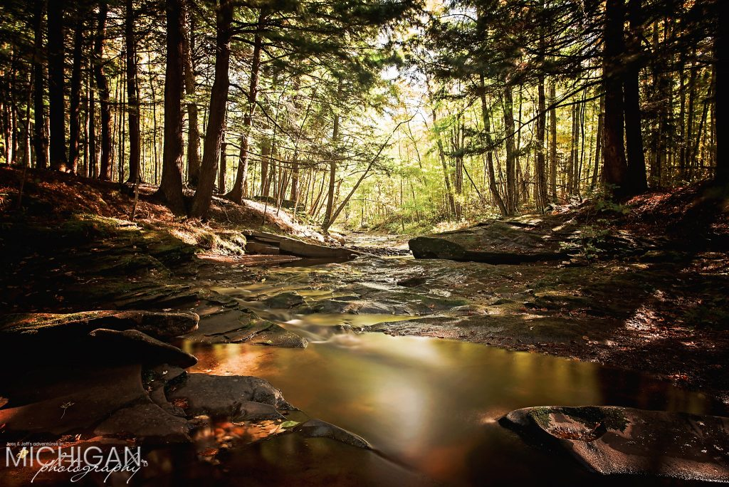 A shot of Pinkerton Creek in the Porcupine Mountains
