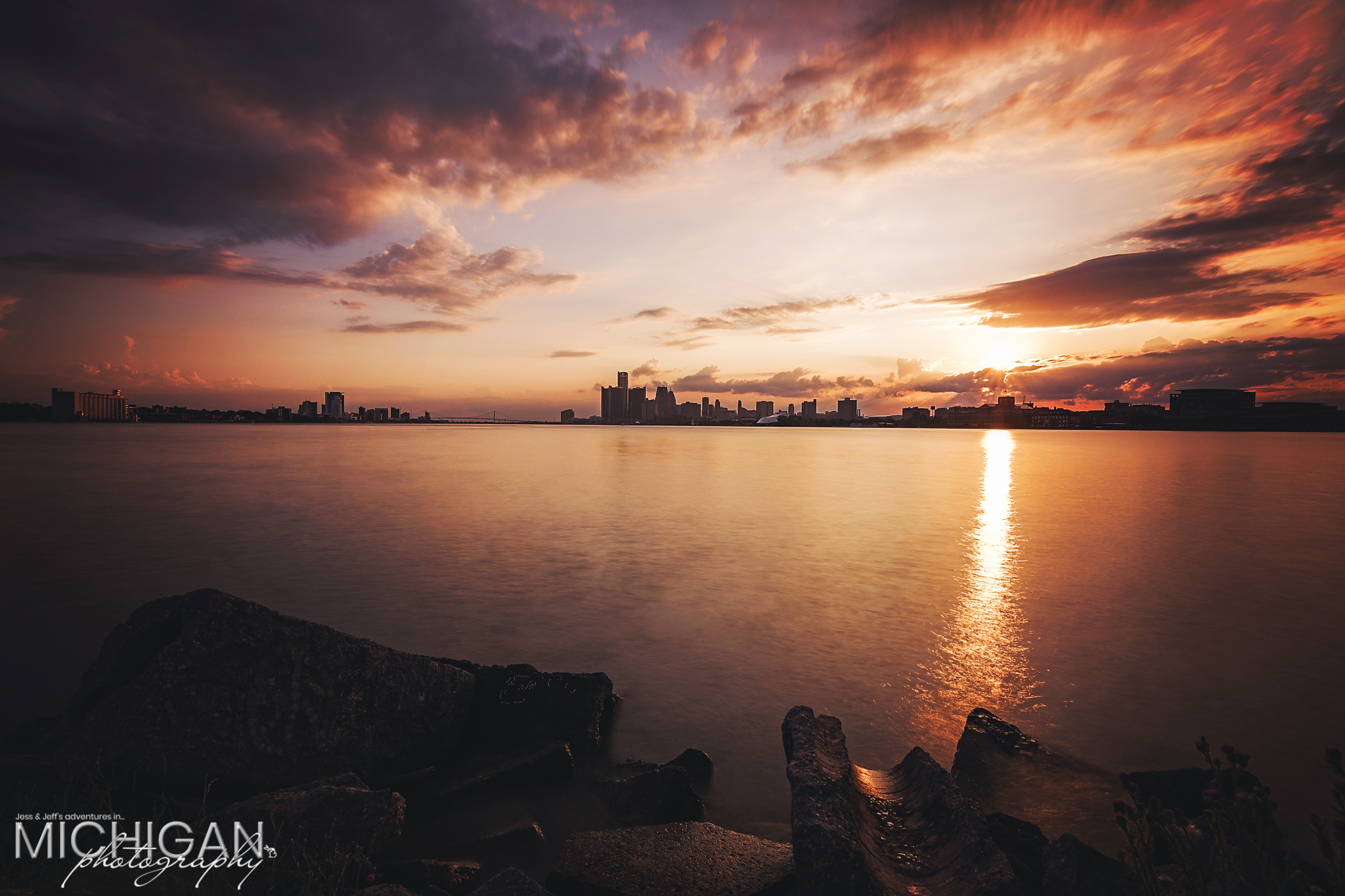 A Detroit Skyline Sunset