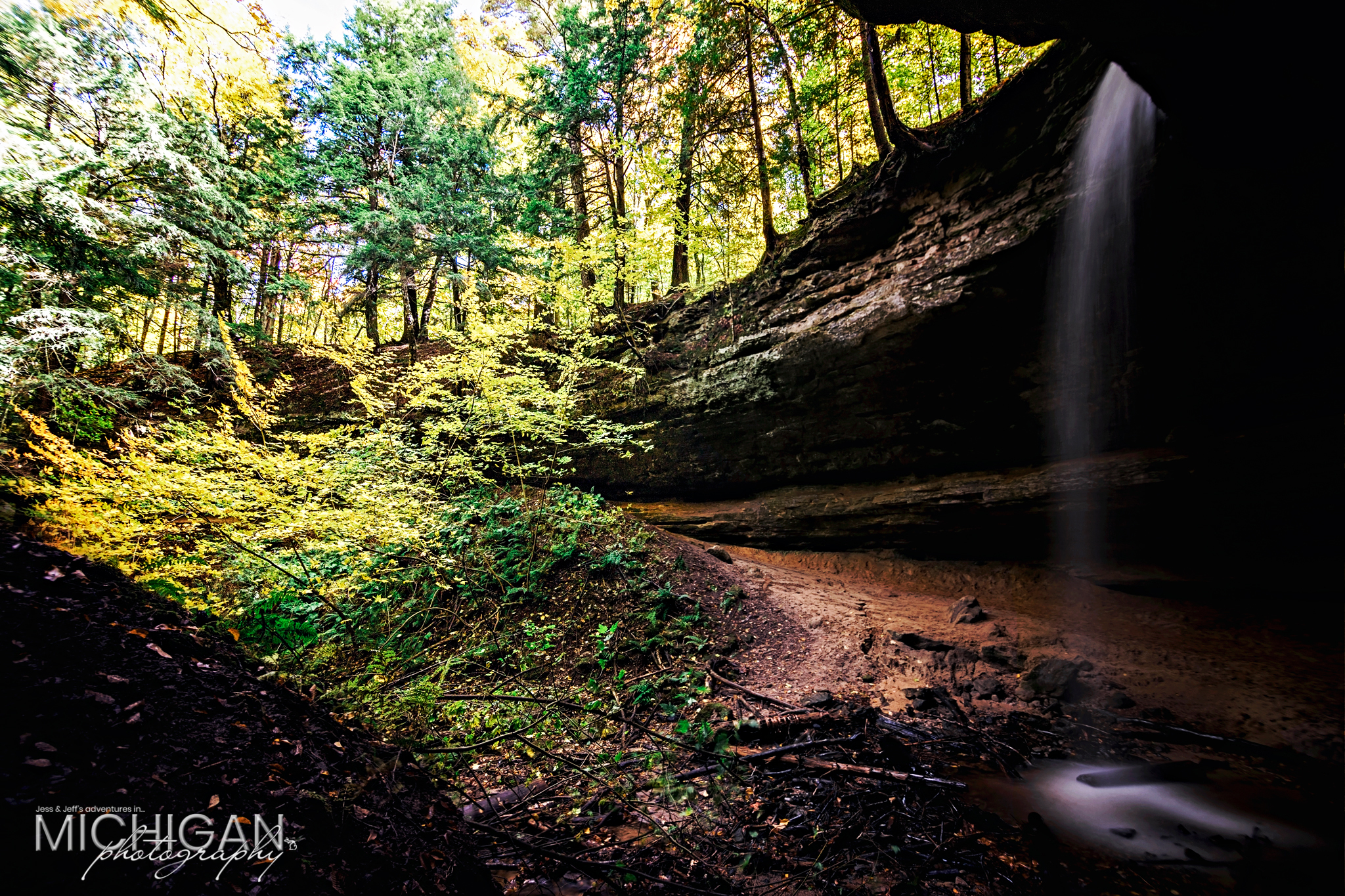 Memorial Falls in Munising Michigan