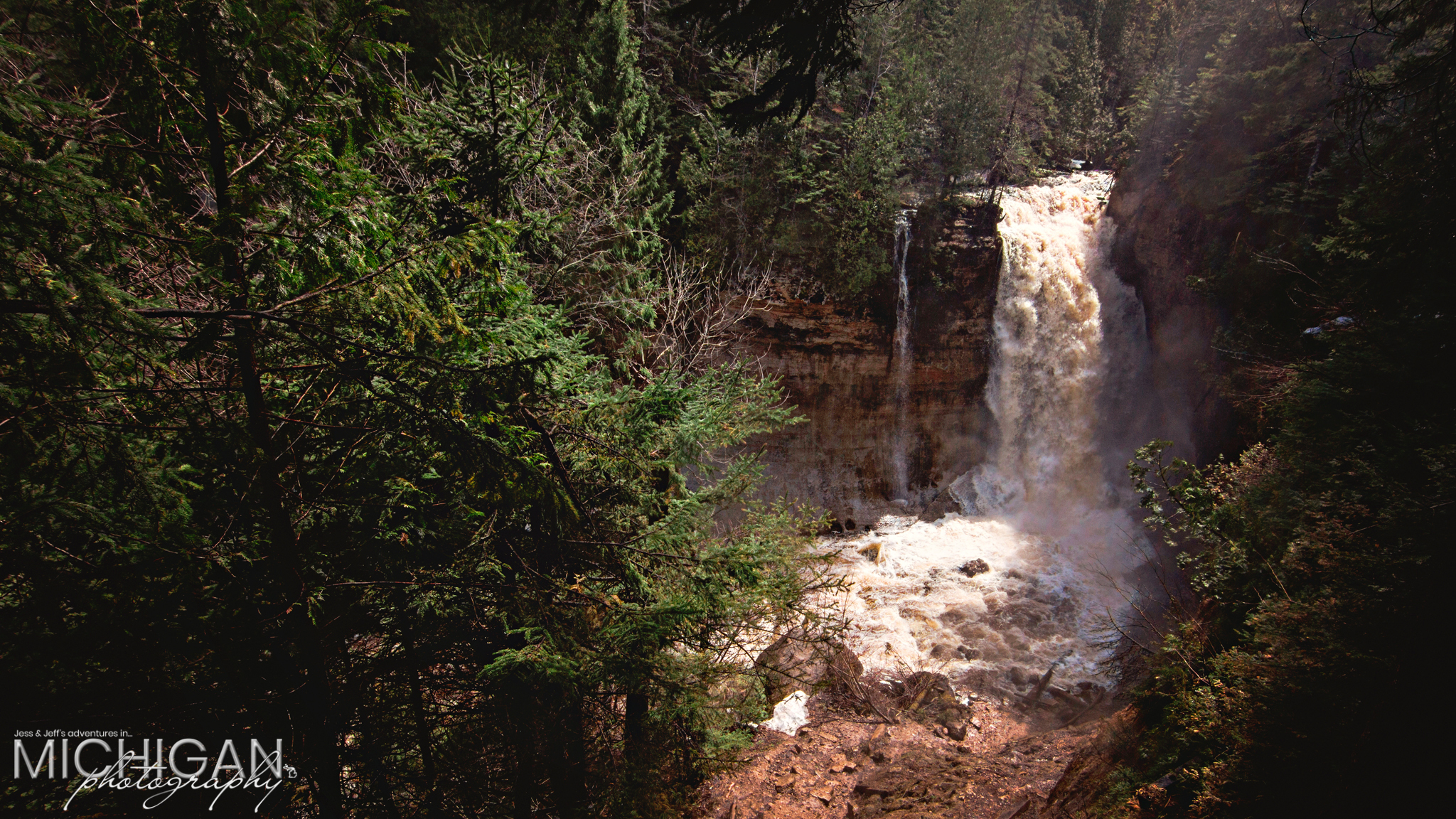 Miners Falls at Pictured Rocks National Lakeshore in Munising MI