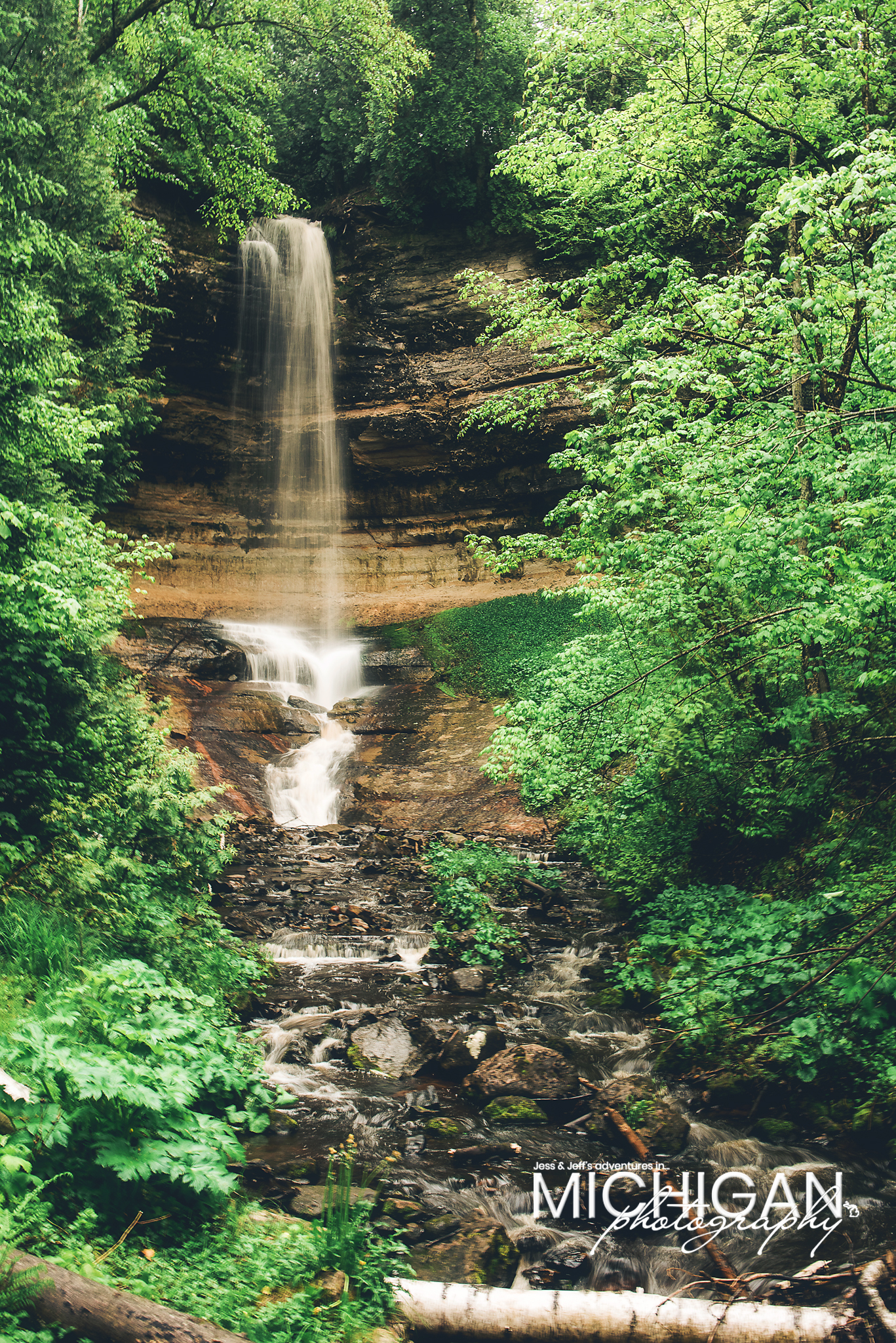 Munising Falls in Michigan's Upper Peninsula