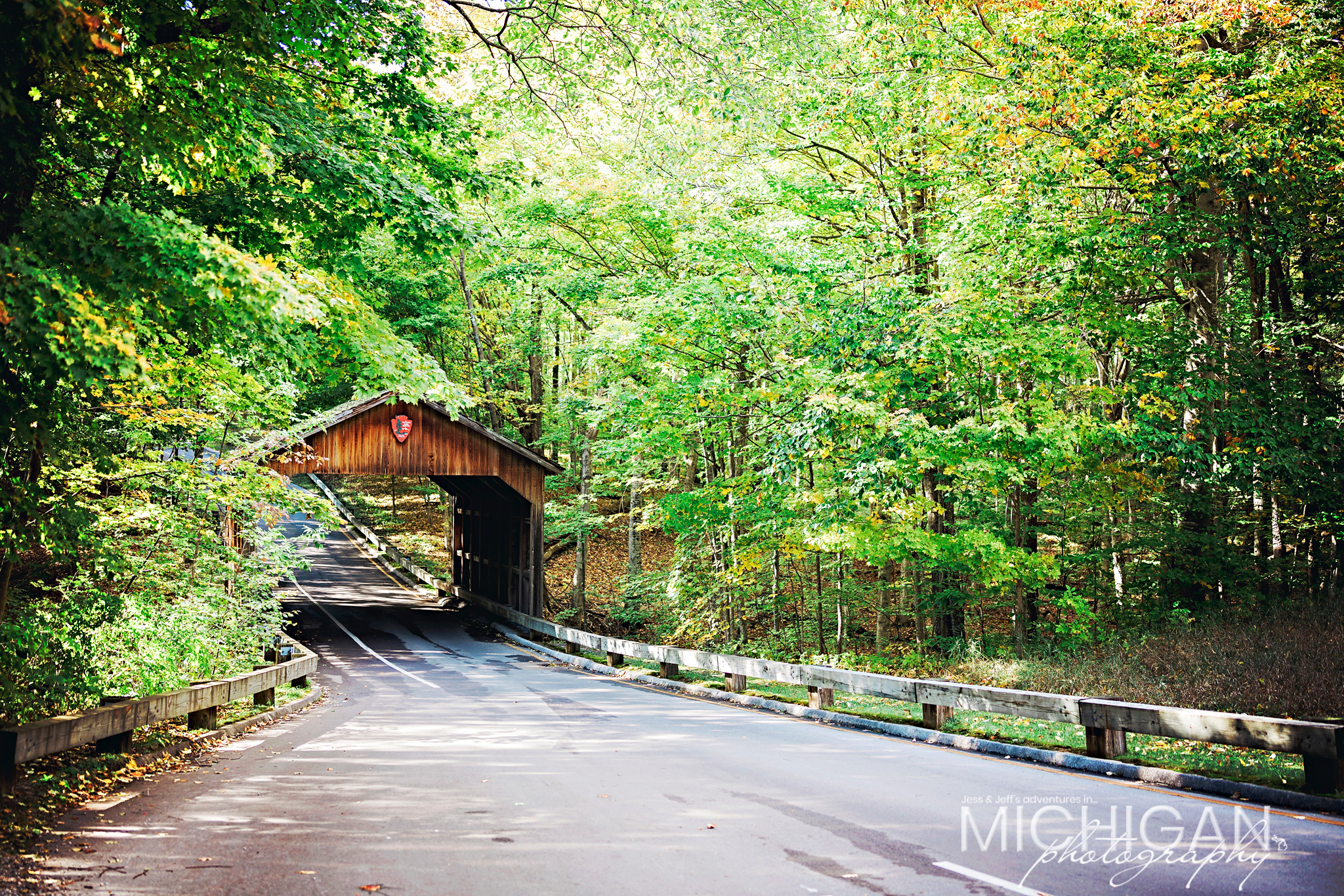 PIerce Stocking Covered Bridge in Autumn