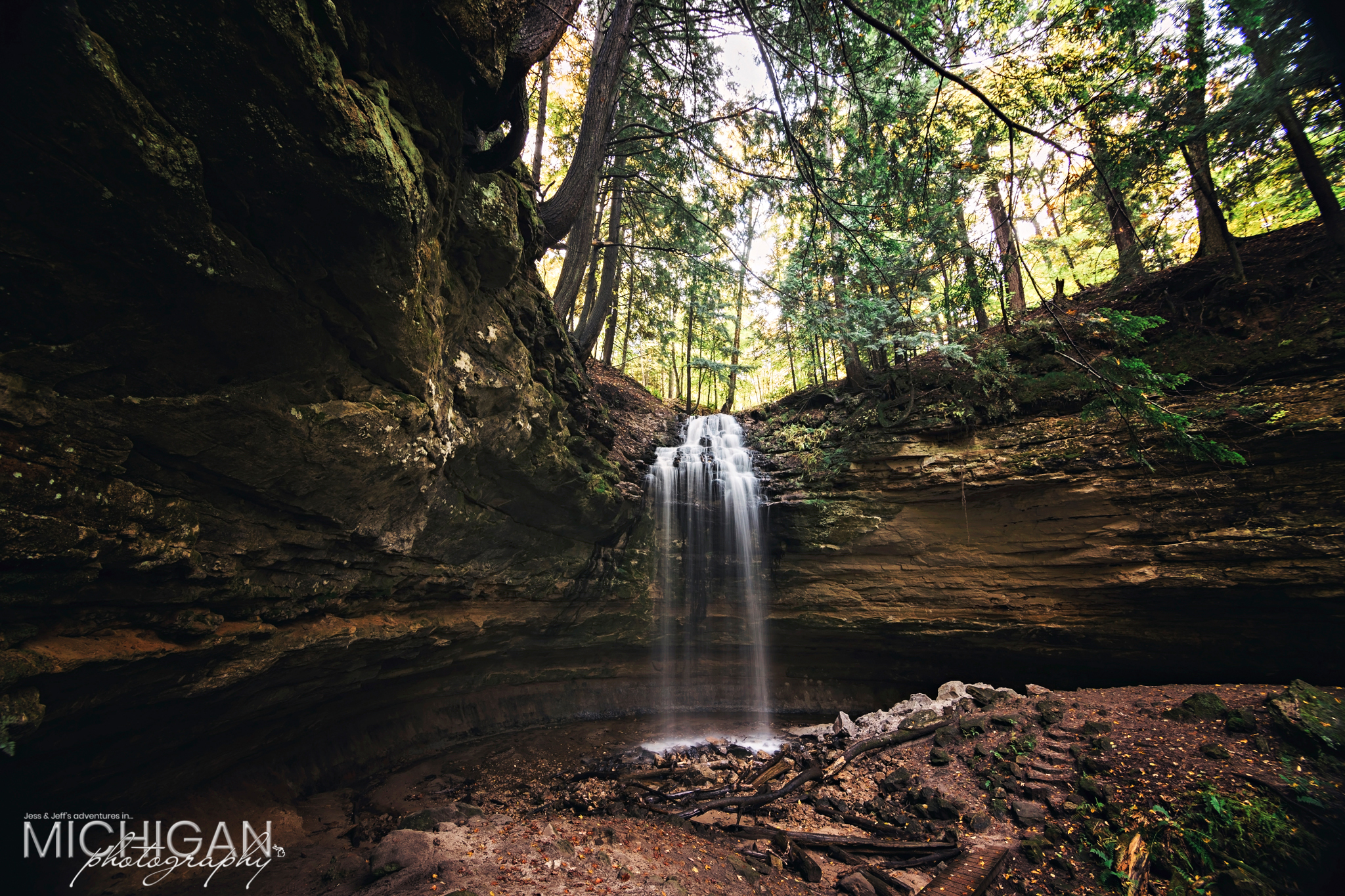 Tannery Falls in Munising Michigan