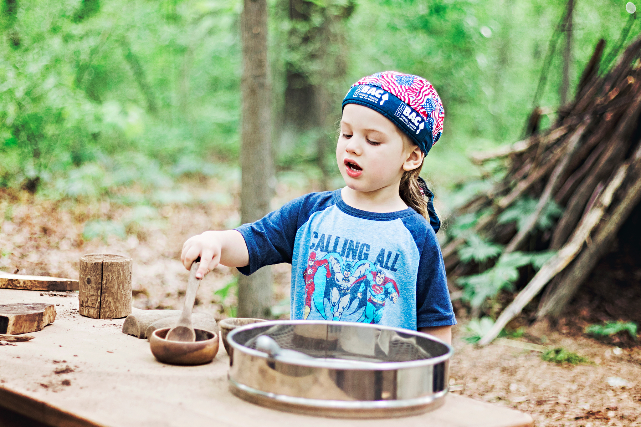 The Eddy Discovery Center's Natural Play Trail is a great place to immerse your kids into nature