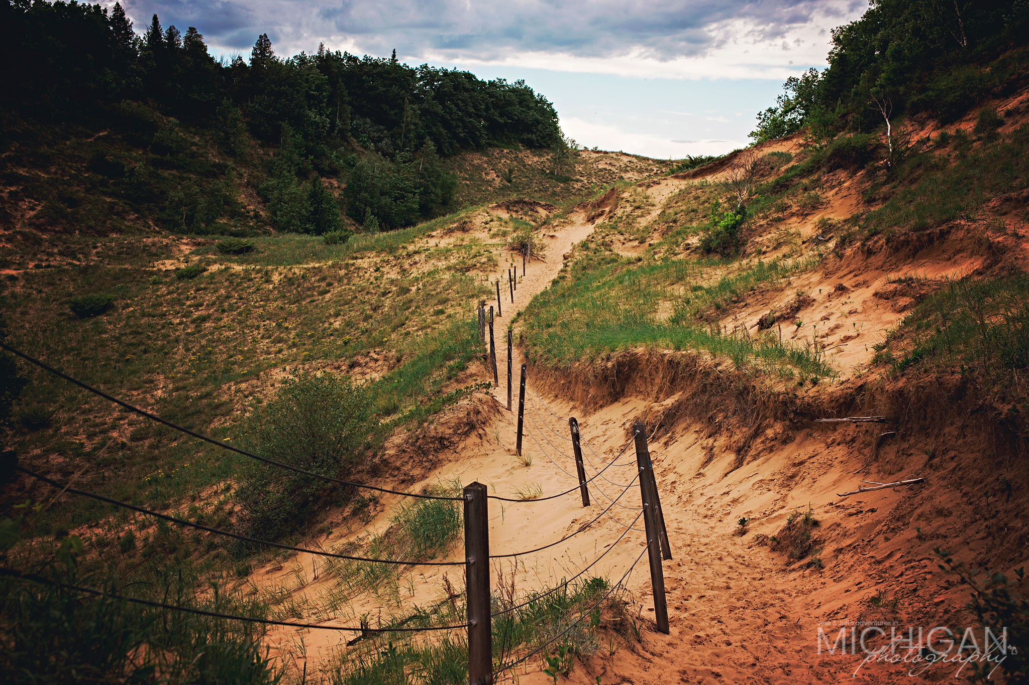 The beginning of Old Baldy Dune's trail.