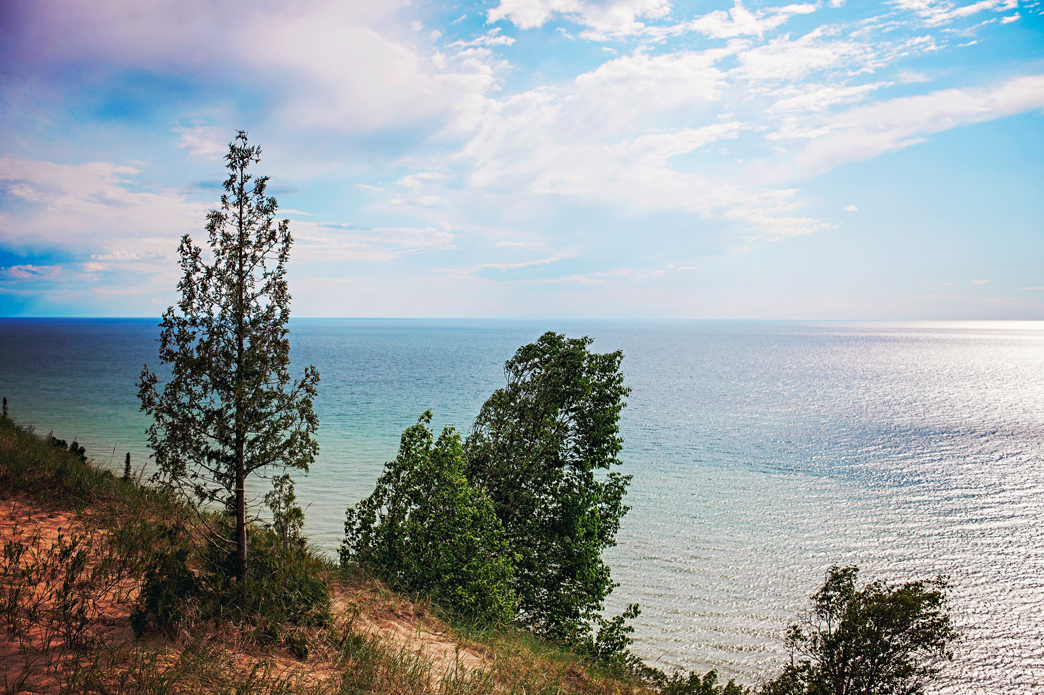A view of Lake Michigan from Old Baldy