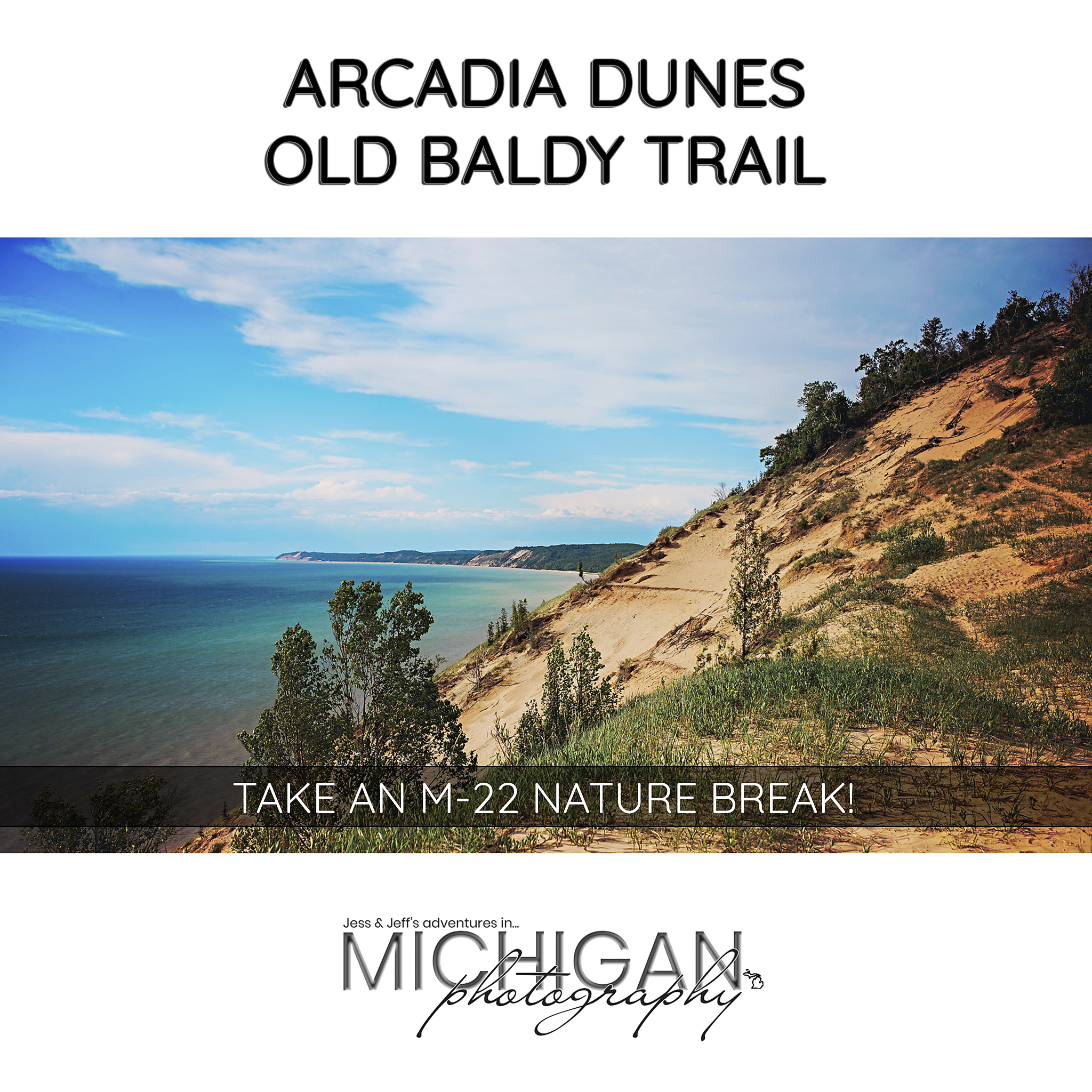 Old Baldy Trail in the C.S. Mott Arcadia Dunes Nature Preserve